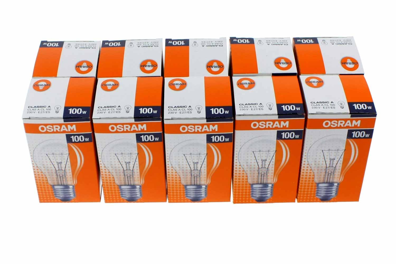 Osram Glü hlampe Birnenform, 10er, 75 Watt, E27, matt, 30800008