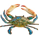 "Awesome Realistic Looking Acrylic Resin 9"" Wide Blue Crab Wall Decor!"