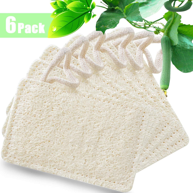 Natural loofah Dishwashing Sponges White Dish Scrubber for Kitchen Dish Cleaning Eco Washing Up Sponge Zero Waste| Plastic Free| 100/% Biodegradable