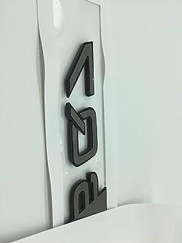 SQ7 OEM ABS Nameplate for Audi R S Q 3 5 7 SQ SQ3 SQ5 SQ7 RSQ3 RSQ5 RSQ7 Silver Chrome Silver Emblem 3D Trunk Logo Badge Compact
