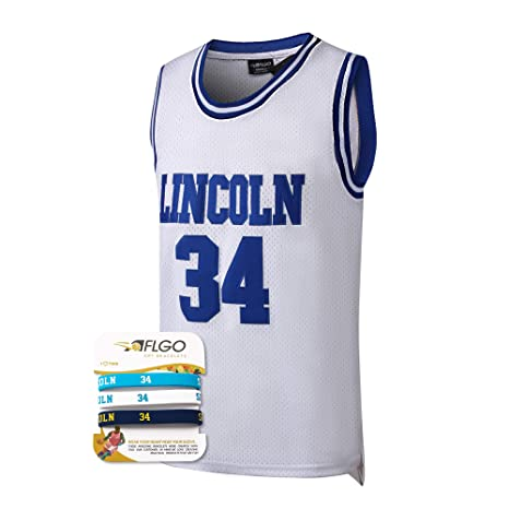 AFLGO Jesus Shuttlesworth  34 Lincoln High School Basketball Jersey S-XXXL  White b46b65c6e