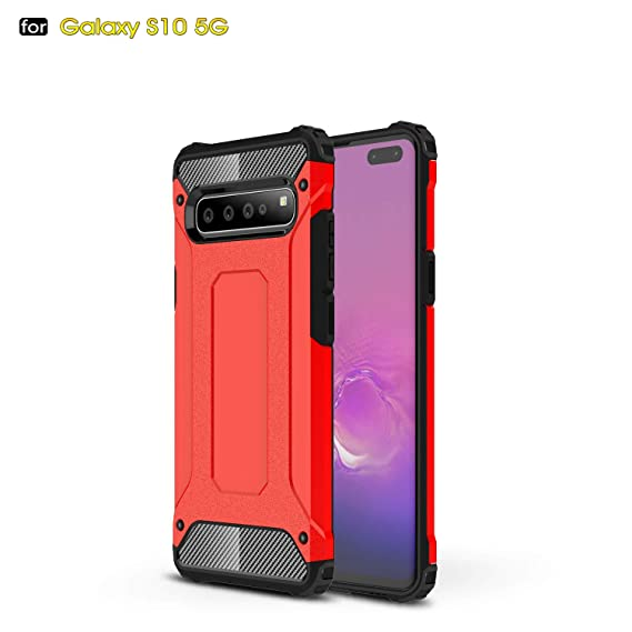 Red Ultra Clear Tempered Glass Back Protective Case Cover for iPhone XR 6.1 inch HIKERCLUB iPhone XR Case Luxury Aluminum Metal Bumper Frame