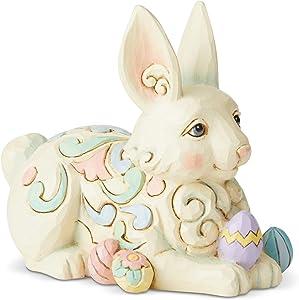 Enesco Jim Shore Heartwood Creek Bunny with Easter Eggs Miniature Figurine, 3.4 Inch, Multicolor
