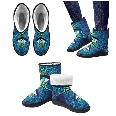 LEINTEREST eye mandala Snow Boots Fashion Shoes For Men