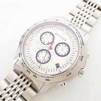 79f9bf6890c5 グッチ メンズ 腕時計 Gタイムレス 126.2 クロノグラフ 白文字盤 シルバー 動作ok [未