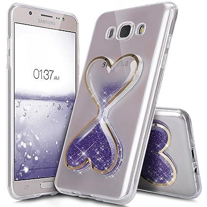 Ikasus® - Carcasa/funda para Samsung Galaxy J7 2016, funda/carcasa para Samsung Galaxy J7 2016, de lujo, brillante, en cristal transparente, ...