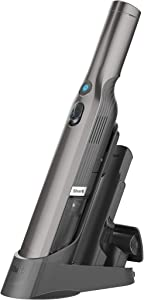 Shark WV201 WANDVAC Handheld Vacuum, Lightweight at 1.4 Pounds with Powerful Suction, Charging Dock, Single Touch Empty and Detachable Dust Cup