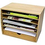 Littérature Cube trieur en bambou avec tiroir Organiseur pour document A4