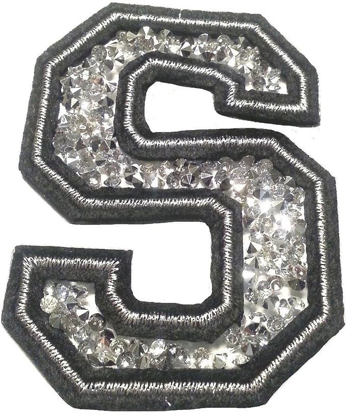 Bügel Iron on Buchstaben Aufnäher Patches groß für Jacken Cap Hosen Jeans Kleidung Stoff Kleider Bügelbilder Sticker Applikat