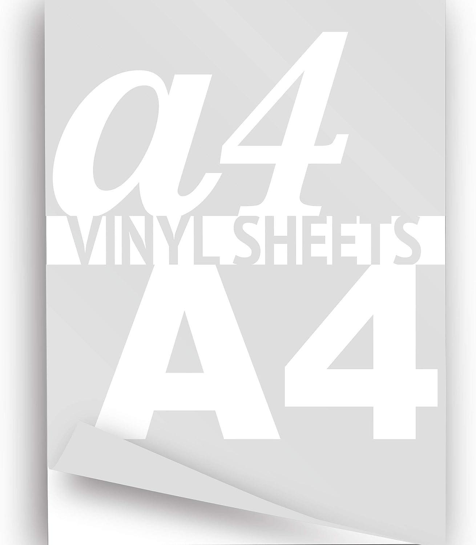 formato A4 Colore bianco lucido 1 foglio adesivo in vinile 297 x 210 mm