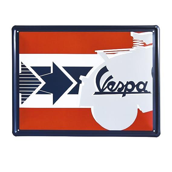 Vespa Rectangular Cartel de Chapa, diseño con Texto servizio ...