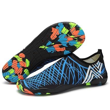 Zapatos de agua Zapatillas Hombre del deporte de agua(Azul-EU35)