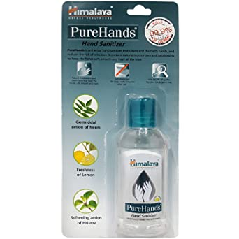 Buy Himalaya Hand Sanitizer Pure Hands 50ml Bottle Online At