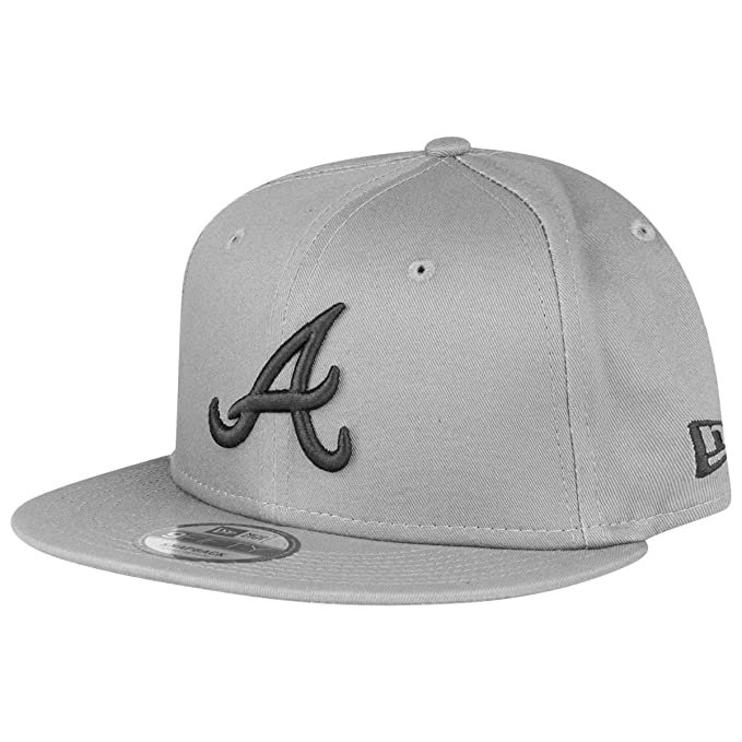 save off 64736 ea8c6 New Era Atlanta Braves MLB League Essential Stone Grey Snapback Cap 9fifty  S M Basecap