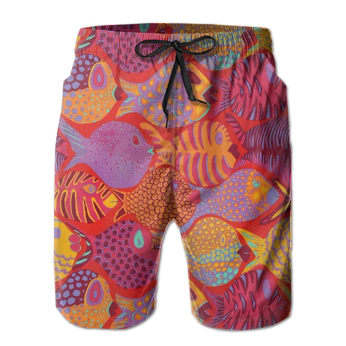 FANTASY SPACE Comfort Men /& Boys Big /&Tall Cargo Short Board Shorts for Beach Outdoor Workout