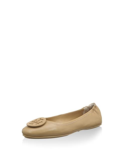 Tory Burch Minnie Travel Ballet Flat Light Oak (7)