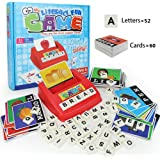 Matching Letter Game, Alphabet Reading & Spelling, Words & Objects, Number & Color Recognition, Educational Learning Toy for