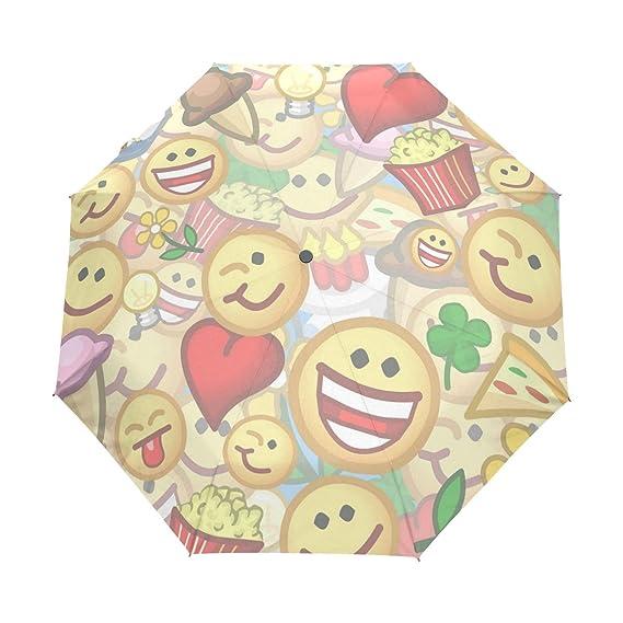 1bfc533d03c2 Amazon.com: MAPOLO Funny Emotes Pattern Windproof Travel Rain ...