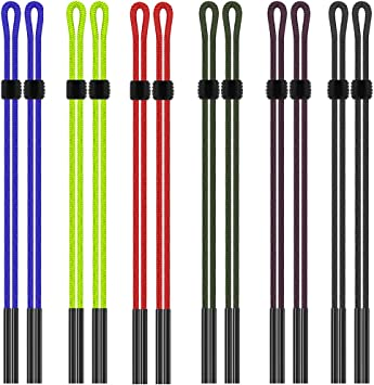WINOMO Nylon Eyewear Cord Spectacle Frame Holder Sunglasses Neck String 12pcs Random Color