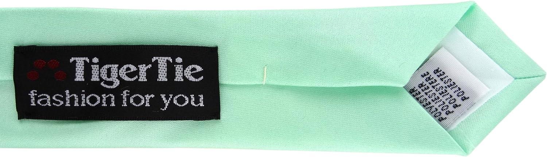 Schlips Binder Tie TigerTie schmale Satin Krawatte in mint Uni einfarbig