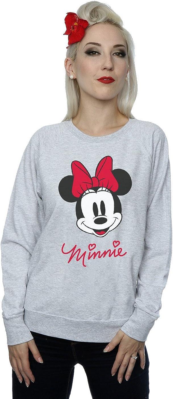Disney mujer Minnie Mouse Face Camisa De Entrenamiento
