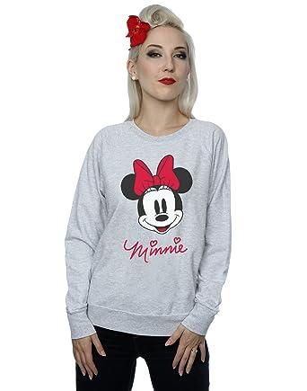 Disney mujer Minnie Mouse Face Camisa De Entrenamiento: Amazon.es: Ropa y accesorios