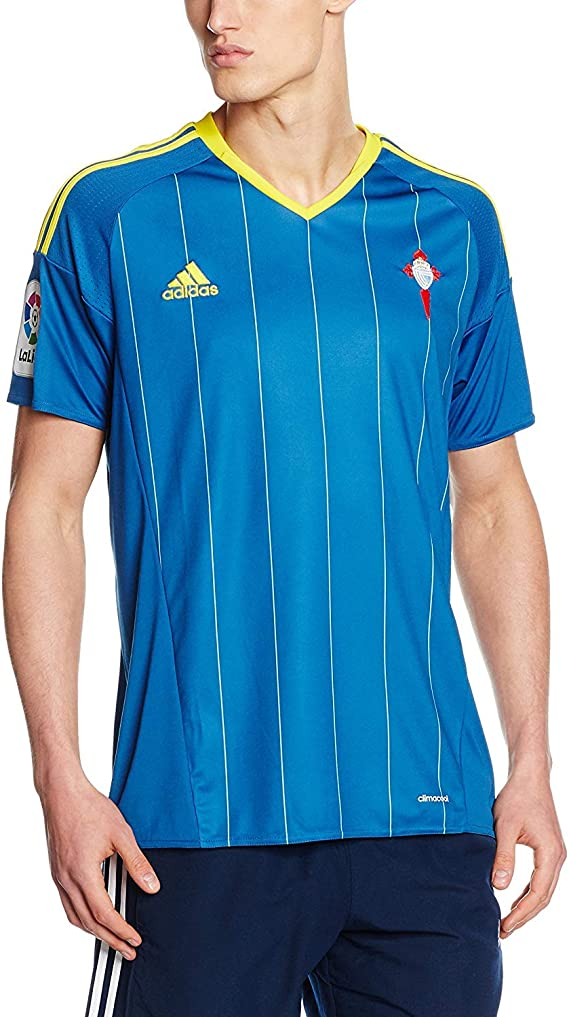 adidas Celta A JSY Deuxième T Shirt de Club Celta de Vigo pour Homme, Marron