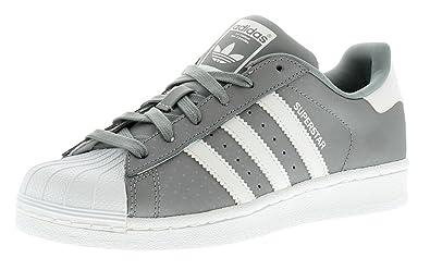 adidas New Ladies Womens Grey White Originals Superstar Trainers - Grey  White - 2e324256e7
