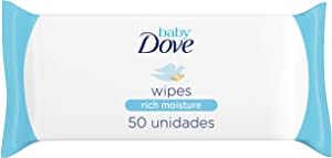 Dove Baby Wipes Rich Moisture, 50 Wipes (Pack of 6)
