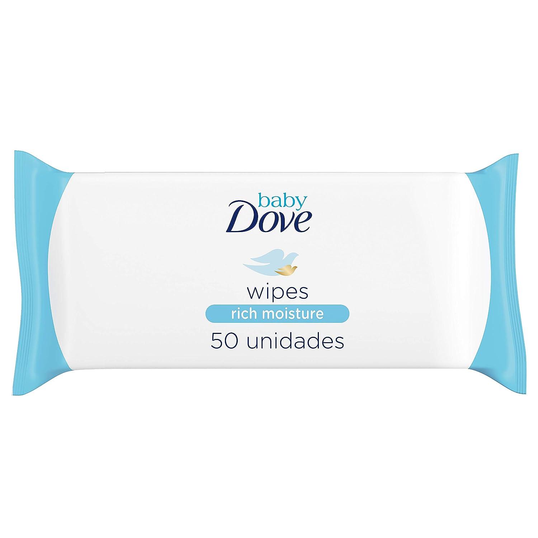 Pack de 12 x 50 Toallitas h/úmedas Baby Dove hidrataci/ón profunda Total 600 toallitas