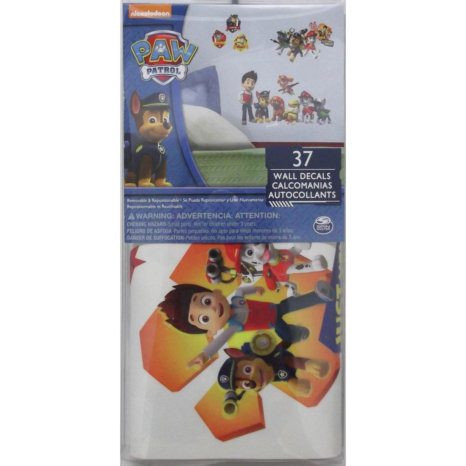 roommates rmk2640scs paw patrol peel and stick wall decals roommates rmk2640scs paw patrol peel and stick wall decals amazon com