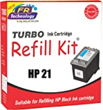 Turbo Ink Cartridge Refill Kit For HP 21 Black Ink Cartridge