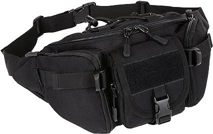 2x Tactical Molle Pouch Belt Waist Pack Bag Military Waist Pocket Waterproof