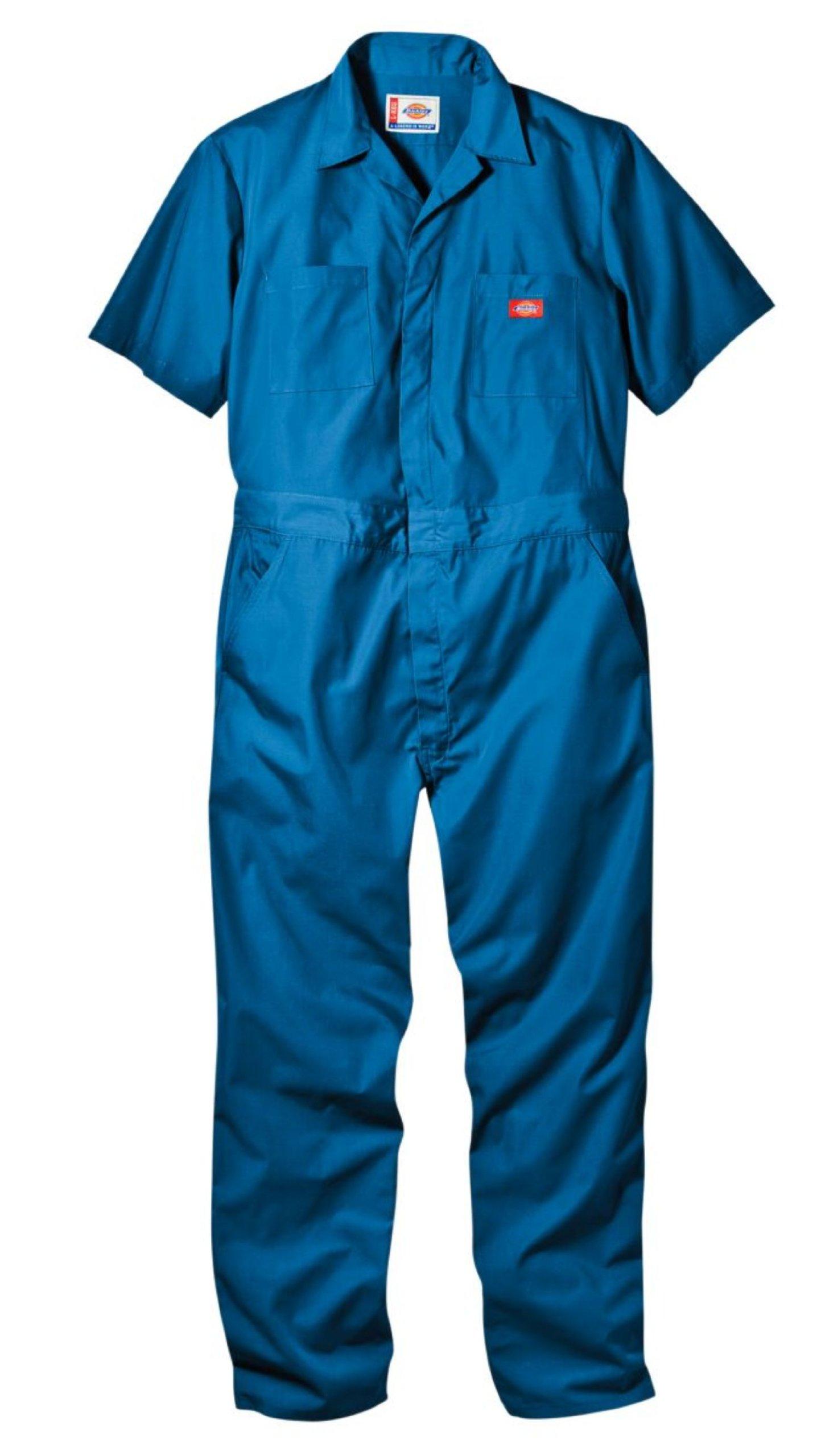 Dickies Men's Short Sleeve Coverall, Medium Blue, XX-Large Tall