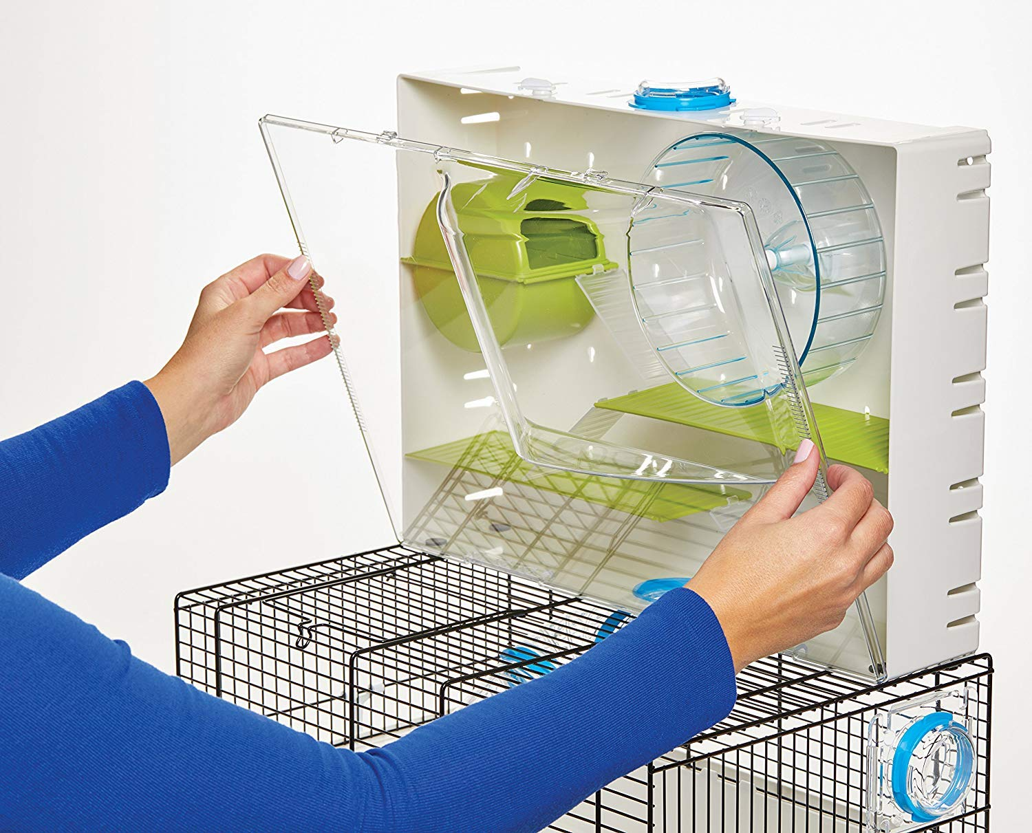 MidWest Homes for Pets Hamster Cage | Awesome Arcade Hamster Home | 18.11'' x 11.61'' x 21.26'' by MidWest Homes for Pets (Image #6)