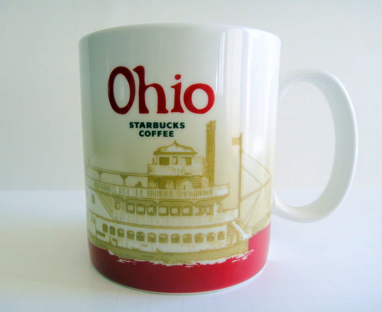 Starbucks Coffee 2011 Ohio Ceramic Mug 16 oz