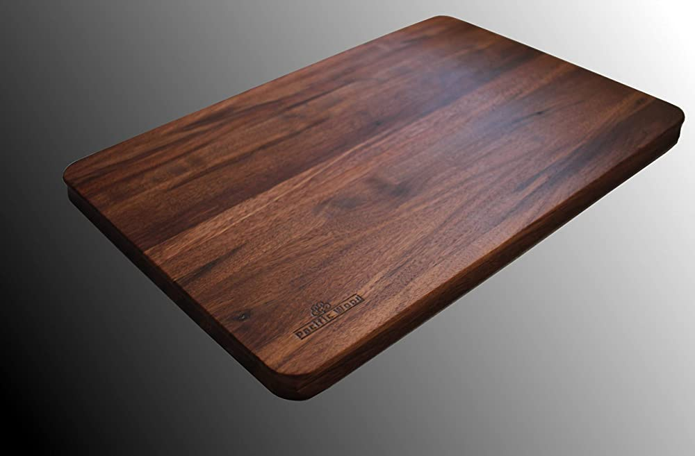 Handmade By Pacific Wood Walnut Cutting Board Extra Large Hardwood Chopping and Carving Countertop Reversible 16 x 12 x 1.5 IN Made In the USA. Edge Grain Deep Well Juice Groove