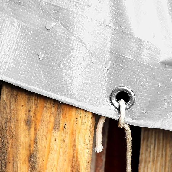 casa pura Toldo Reforzado Impermeable 4x6 - Rafia Exterior | Toldo con ojales | Extremadamente resistente | 240g/m² | Muchos colores y tamaños (Blanca): Amazon.es: Bricolaje y herramientas