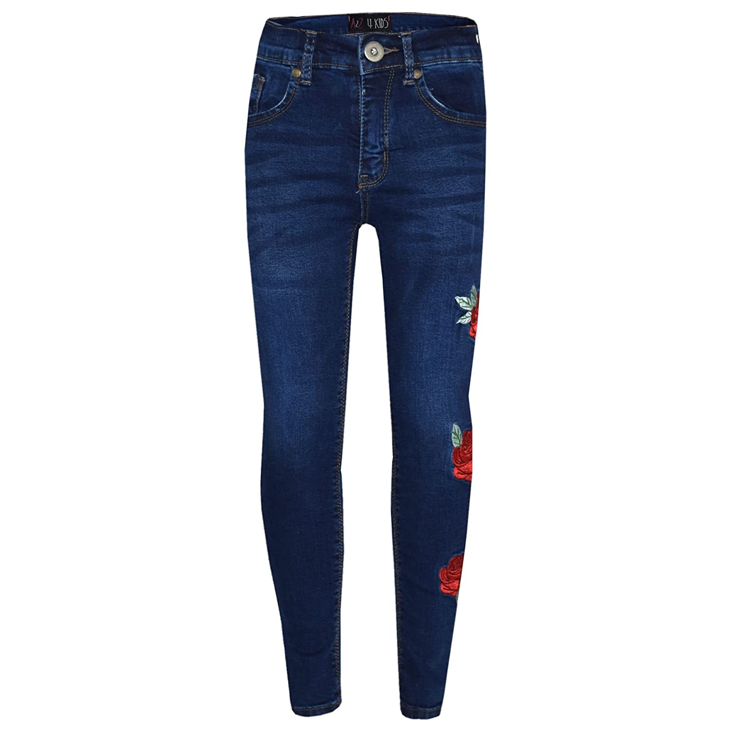 A2Z 4 Kids® Girls Stretchy Jeans Kids Ripped Denim Pants Fashion Trousers Jeggings Age 5 6 7 8 9 10 11 12 13 Years