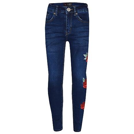 A2Z 4 Kids® Mädchen Dehnbar Jeans Kinder Zerrissen Dinem Hosen Mode Hosen Jeggings Alter 5 6 7 8 9 10 11 12 13 Jahre