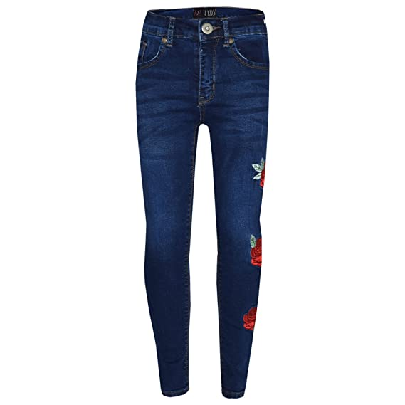 ff23055a223 A2Z 4 Kids® Girls Stretchy Jeans Kids Ripped Denim Pants Fashion Trousers  Jeggings Age 5 6 7 8 9 10 11 12 13 Years  Amazon.co.uk  Clothing