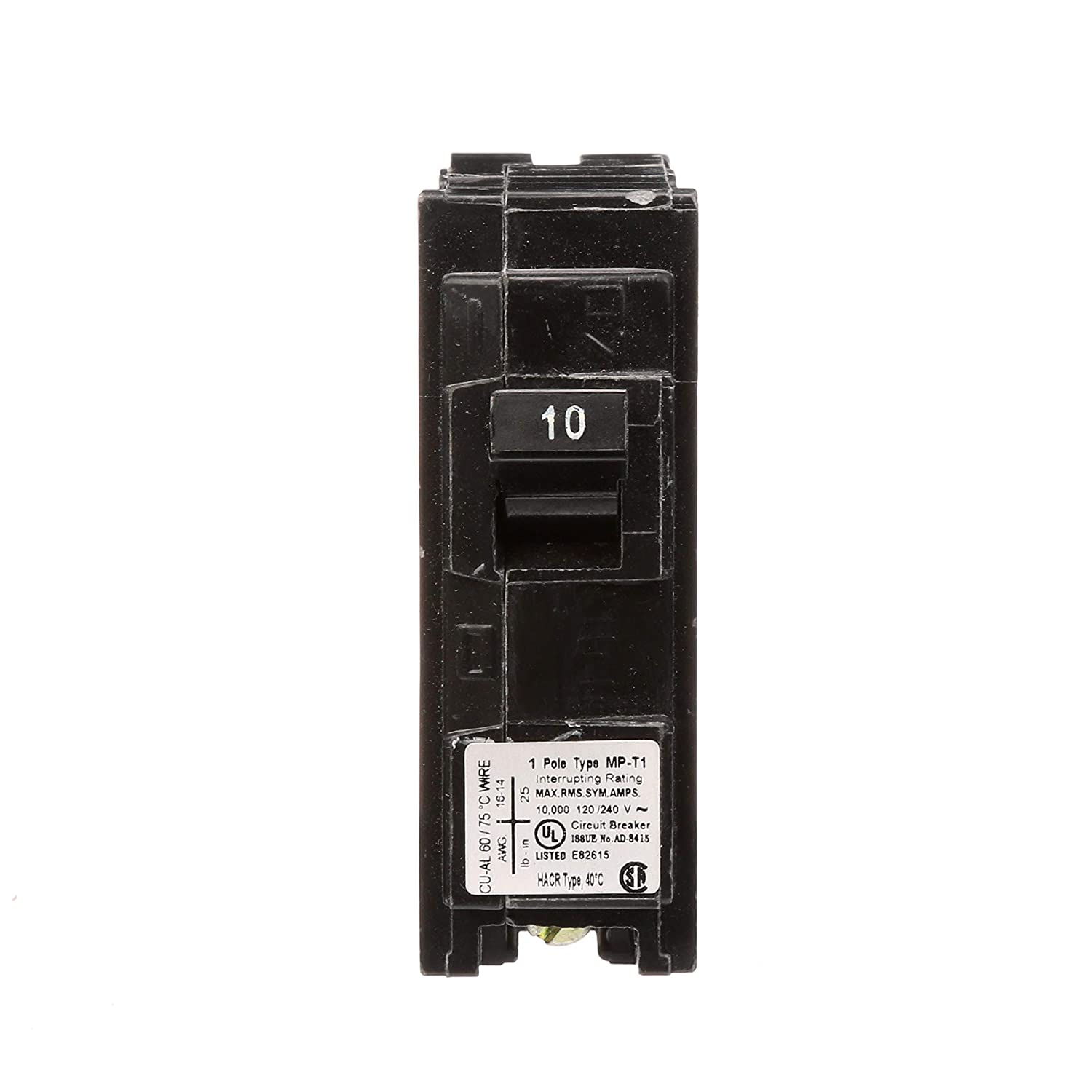 Mp120 20 Amp Single Pole Type Mp T Circuit Breaker In A Series The Amperage At Any Point Is