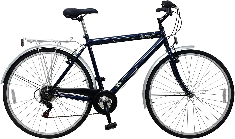 New Fellia Gents 700c Windsor Tourer Hybrid Bike Blue Amazon Co