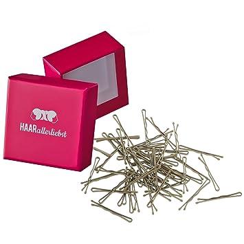 Haarallerliebst 50 Mini Haarklammern Haarnadeln Bobby Pins Kurz