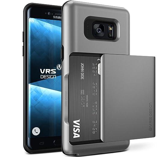 Galaxy Note 7 Case, VRS Design [Damda Glide][Nero] - [Scorrevole Semi-Automatico] [Porta carte di credito][Perfetto Protezione] For Samsung Note 7