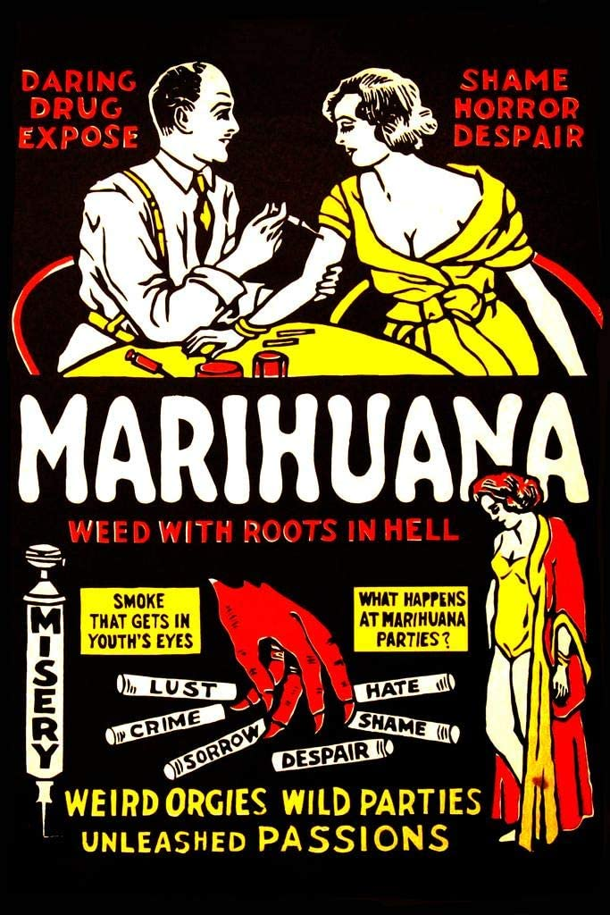 """/""""Marihuana/"""" 1936 Reefer Vintage Style Movie Poster 16x24"""