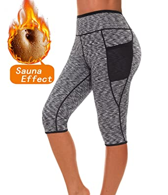55d3c980613 SEXYWG Women s Neoprene Sauna Slimming Pants-Fat Burning Hot Thermo Sweat  Sauna Capris Leggings Shapers