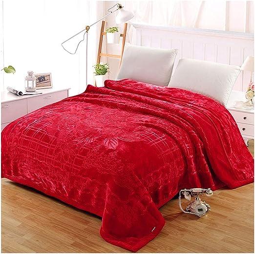 HongLianRiven - Manta de algodón a Cuadros para sofá, Cama, para ...