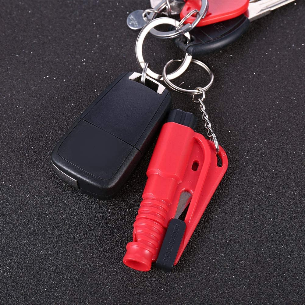 redcherry 6 Pieces Car Life Keychain Emergency Escape Tool Car Window Car Safety Rescue Tool Window Glass Breaker with Keyring