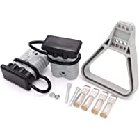 QWORK 175 Amp Battery Quick Connector Kit AWG 1//0 Power Connectors Quick Disconnect for Forklift Trailer